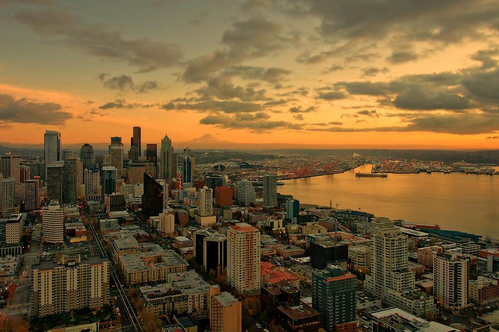 Seattle Sunset by Dan Mihai