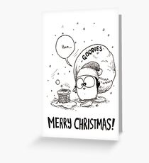 Fat Penguin's Fat Goodie Bag Greeting Card