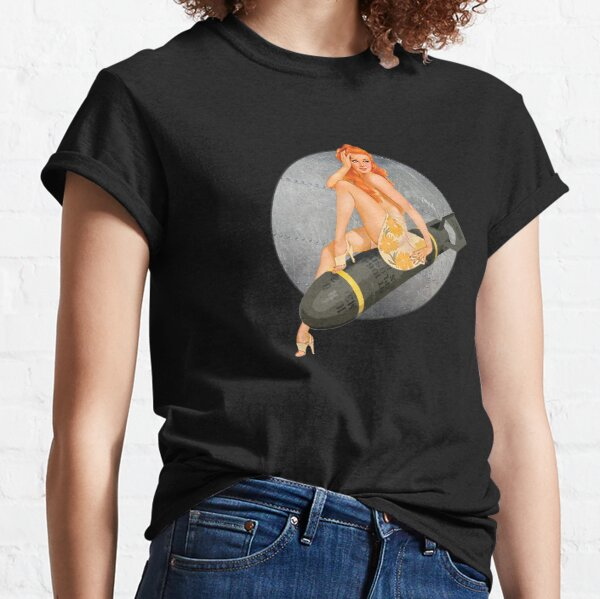 Pin-up blonde bombs WWII 40s Classic T-Shirt