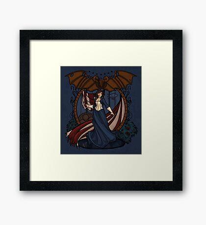 Elizabeth Nouveau Framed Print