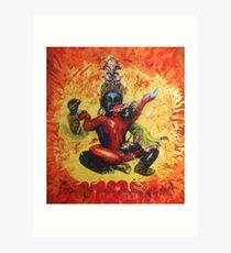 Chakrasamvara and Vajravahi  Art Print