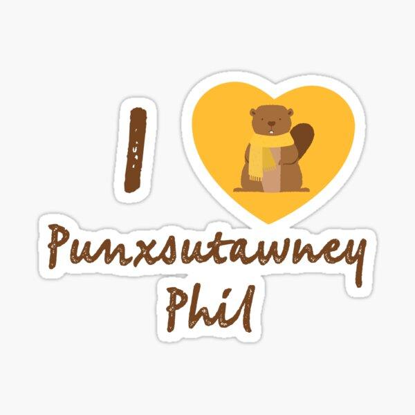 I Love Punxsutawney Phil Sticker