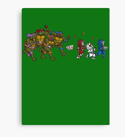 Turtles VS Cats Canvas Print