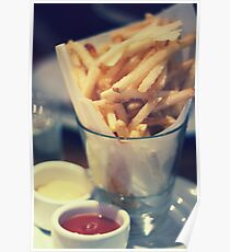 Parmesan Truffle French Fries Poster