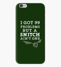 99 Problems But A Snitch Ain't One - Green iPhone Case