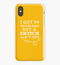 99 Problems But A Snitch Ain't One - Yellow iPhone Case