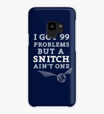 99 Problems But A Snitch Ain't One - Blue Case/Skin for Samsung Galaxy