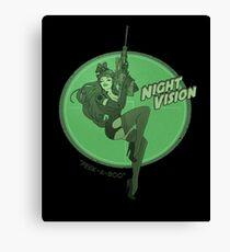 Night Vision Pin Up Canvas Print