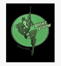 Night Vision Pin Up Photographic Print