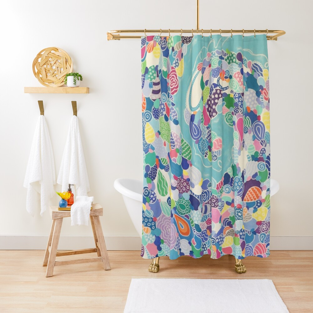 Sweeping Medley Shower Curtain