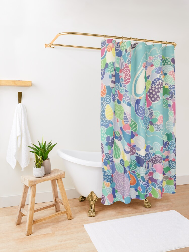 Alternate view of Sweeping Medley Shower Curtain