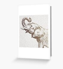 The Wisest Elephant Greeting Card