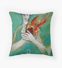 Burning  Throw Pillow