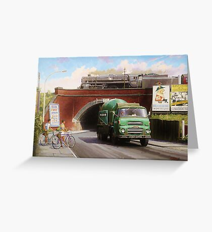 Albion truck mixer Greeting Card