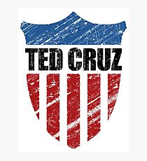 Ted Cruz Patriot Shield Photographic Print