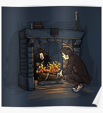 The Witch in the Fireplace Poster