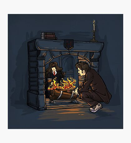The Witch in the Fireplace Photographic Print