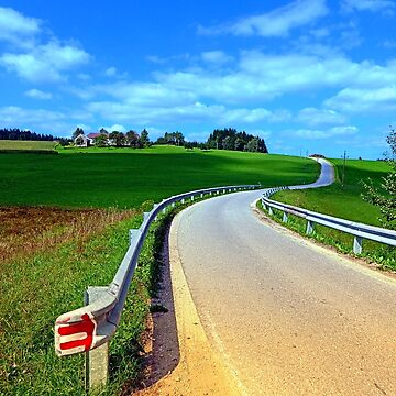 Country road into amazing panorama | landscape photography by patrickjobst