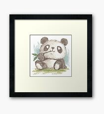 Panda that is eating bamboo Framed Print