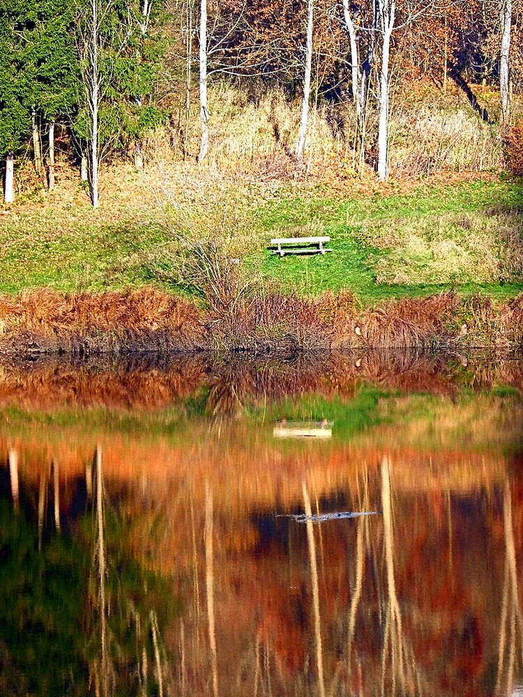 Water reflections on the river | waterscape photography by Patrick Jobst