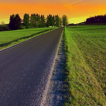 Country road into surreal sundown | landscape photography by patrickjobst