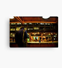 Quincy Station, rush hour Canvas Print