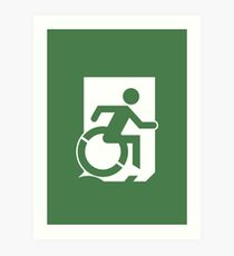 Accessible Means of Egress Icon, part of the Accessible Exit Sign Project Art Print