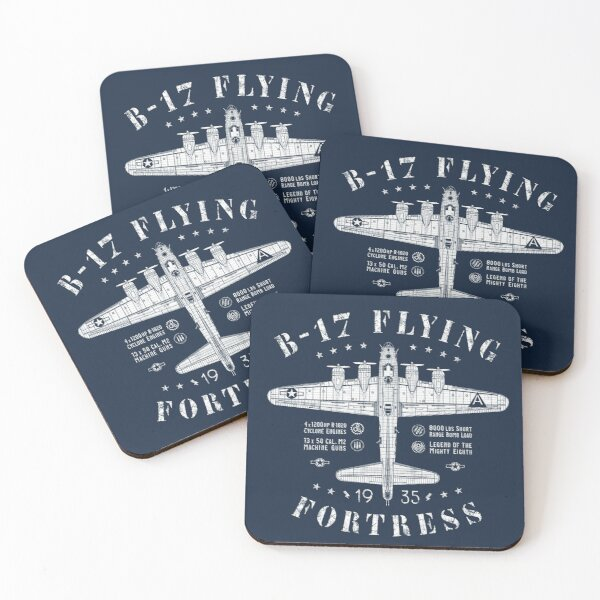B-17 Flying Fortress Coasters (Set of 4)