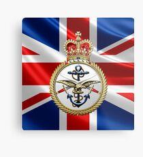 British Armed Forces Emblem 3D Metal Print