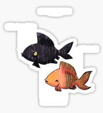 Anatomy of a Goldfish Sticker