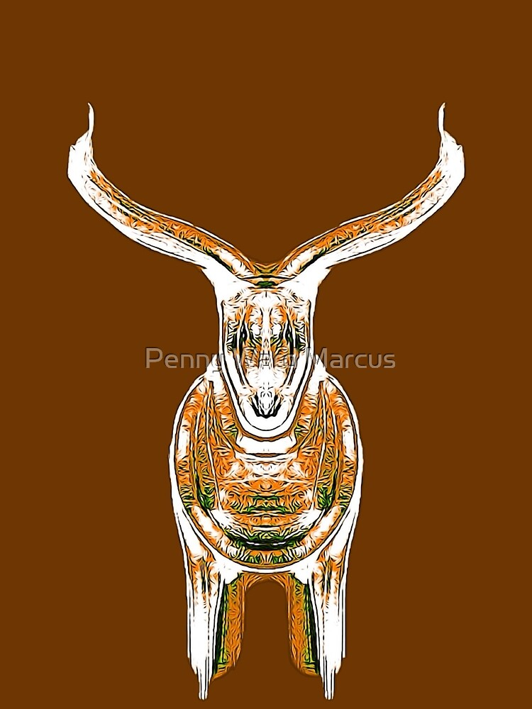 Bull, brown and orange by Penny Ward Marcus