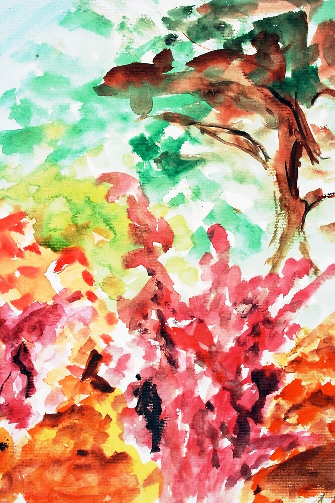 Let's Call It Abstract Leaves by lorien hughes