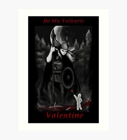 Valkyrie Valentine Art Print