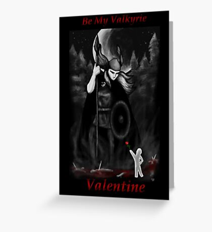 Valkyrie Valentine Greeting Card