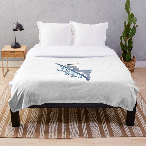 heron woman Throw Blanket