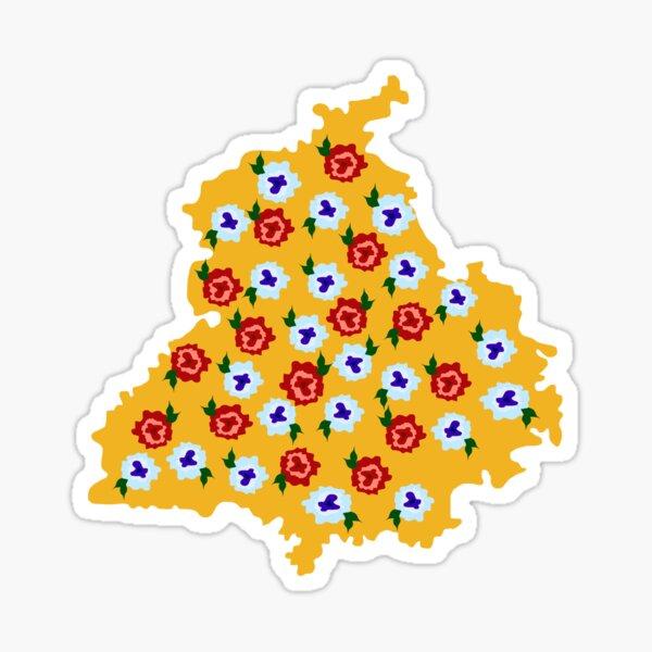 Punjab Phulkari Sticker