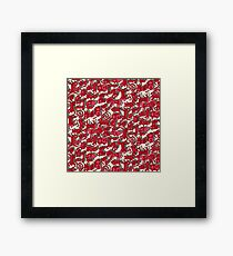 chinese animals red Framed Print