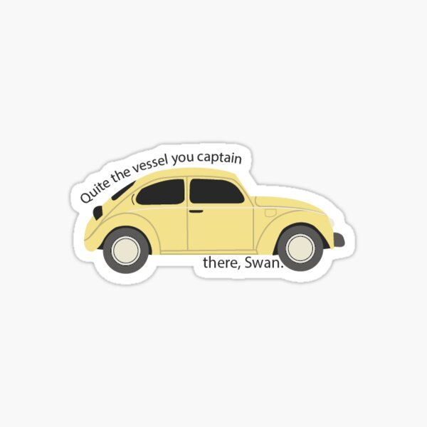 Once Upon a Time - Emma and Hook yellow bug car Sticker