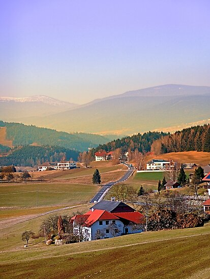 Country road in amazing panorama | landscape photography by Patrick Jobst