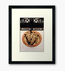Two Horses In The Wall Framed Print