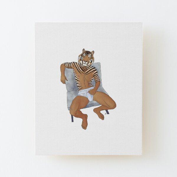 Tiger Man Wood Mounted Print