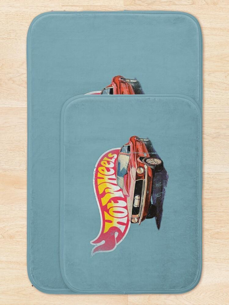 Alternate view of Mustang- 1968 Custom - Vintage, Distressed Hot Wheels  1968 Custom - Red Line Bath Mat