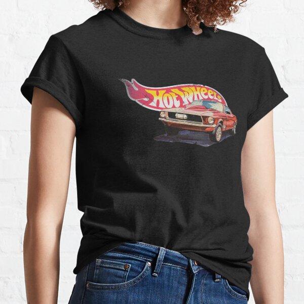 Mustang- 1968 Custom - Vintage, Hot Wheels envejecido 1968 Custom - Línea roja Camiseta clásica
