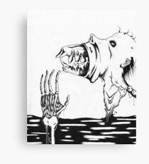 Discharging The Monster Canvas Print