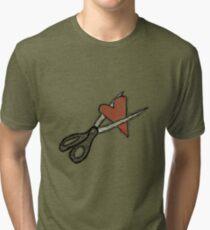 Scissors+heart= Tri-blend T-Shirt