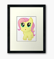 Little Chubby Fluttershy Framed Print