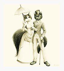 Victorian Cat Series 01 Photographic Print