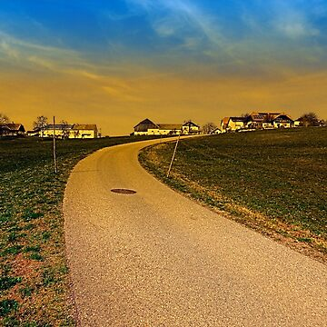 A road, a village and a sunset | landscape photography by patrickjobst
