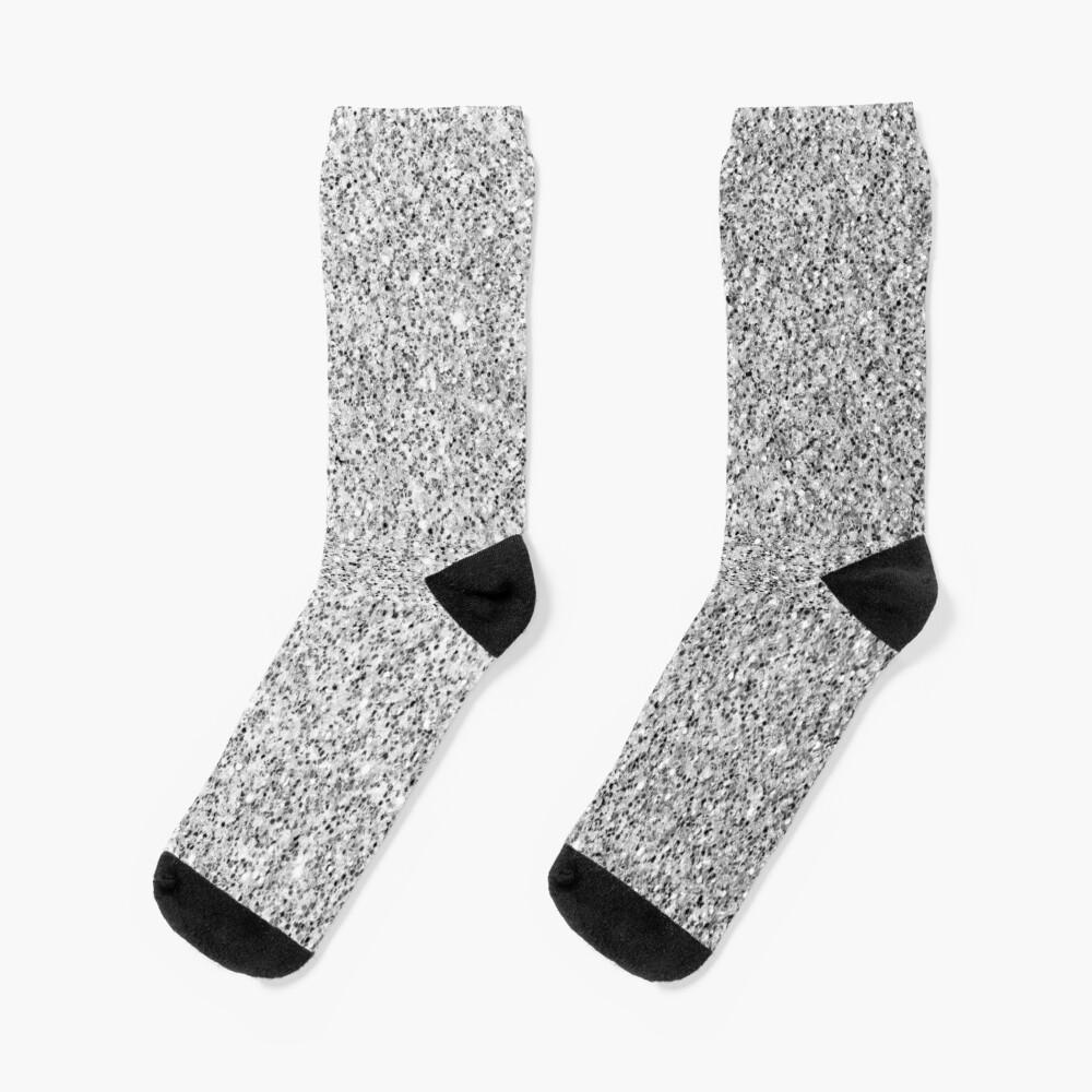 Beautiful Silver glitter sparkles Socks