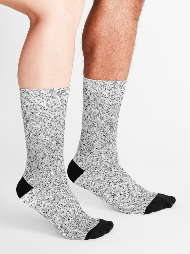 Alternate view of Beautiful Silver glitter sparkles Socks